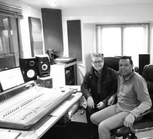 Marcus in the studio with Martin Taylor